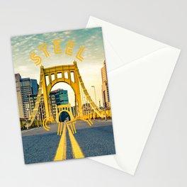 Pittsburgh Steel City Bridge Print Stationery Cards
