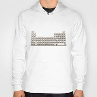 periodic table Hoodies featuring Periodic table by Florian Pasquier