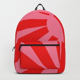 Pink Red Summer Sun Backpack