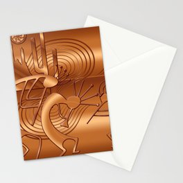 Magical Kokopelli in Burnt Orange Stationery Cards