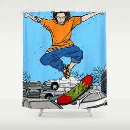 Skateboarder Shower Curtain