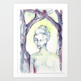 Ghoast in the Woods Art Print