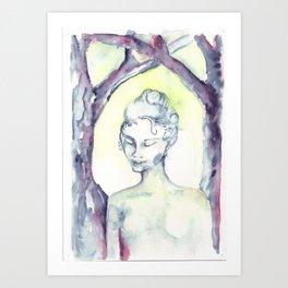 Ghoast in the Woods Art Print