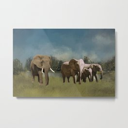 Leaving The Watering Hole Metal Print