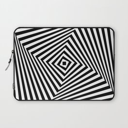 Op art rotating square in black and white Laptop Sleeve