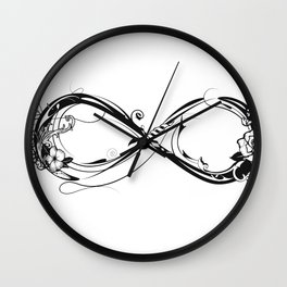 A symbol of infinity Wall Clock