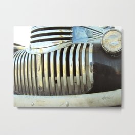 Classic Chevy Truck Grill photography Metal Print