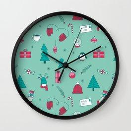 Holly Jolly Wall Clock