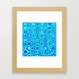 Mixed Polyps Blue - Coral Reef Series 036 Framed Art Print
