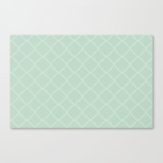 Quatrefoil - Mint Canvas Print