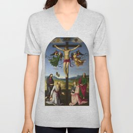 Raphael - Mond Crucifixion Unisex V-Neck
