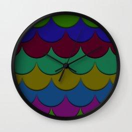 The Rainbow Scales Wall Clock