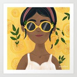 Lemon Girl Art Print