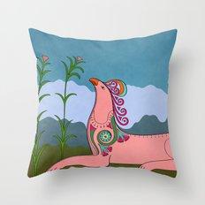Pink Chimera Throw Pillow