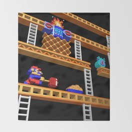 Inside Donkey Kong stage 2 Throw Blanket