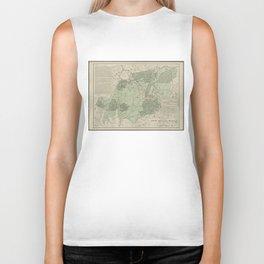 Vintage White Mountains New Hampshire Map (1915) Biker Tank