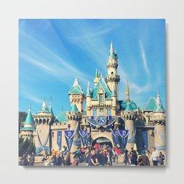 Sleeping Beauty Castle 60th Anniversary Metal Print