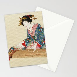 Japanese Lady Playing the Koto Stationery Cards