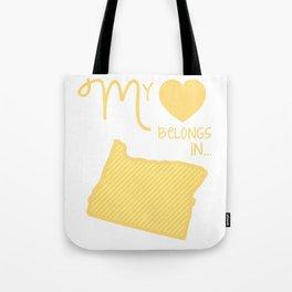 My Heart Belongs in Oregon Tote Bag