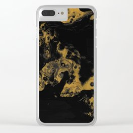 Black Gold Clear iPhone Case