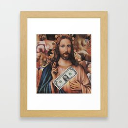 Jesus loves sex Framed Art Print