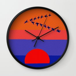 Fly Into The Sunset Wall Clock