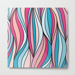 Colored abstract strips Metal Print