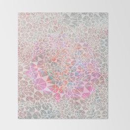 Geo batik pattern - pink Throw Blanket