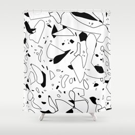 minimal black and white / line art Shower Curtain