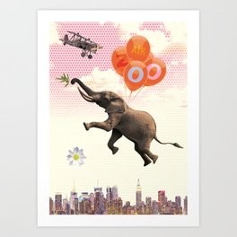 Elephant Air Zoo Art Print