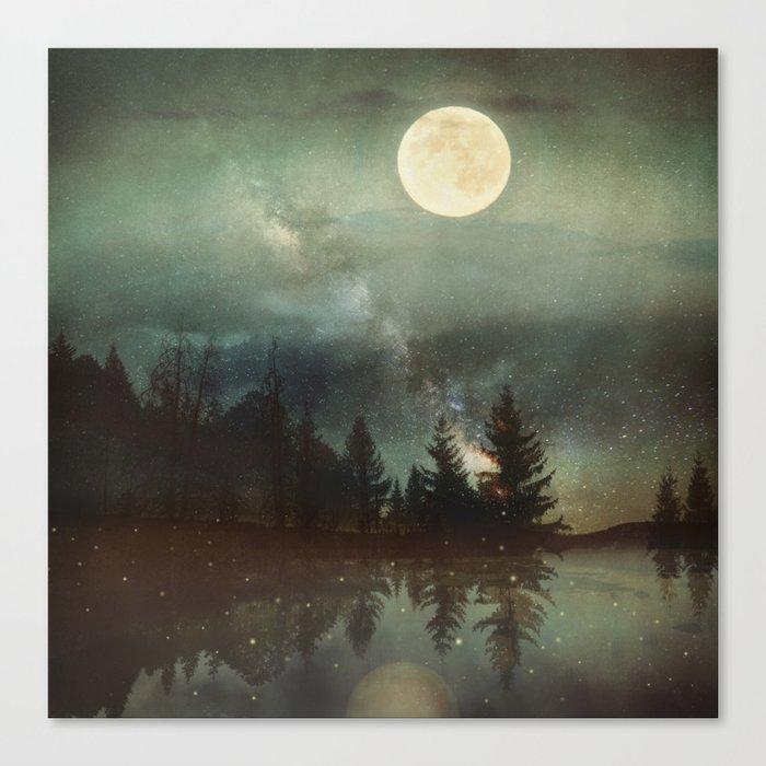 Midnight Fireflies Leinwanddruck