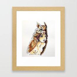 Owl Girl Framed Art Print