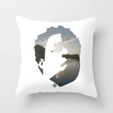 Face & The Ocean Throw Pillow