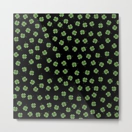 Dark Green Clover Metal Print