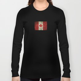 Old and Worn Distressed Vintage Flag of Canada Long Sleeve T-shirt