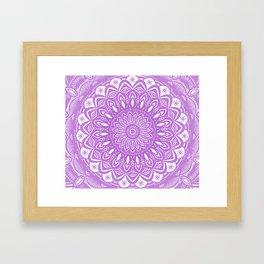 Beautiful Purple Violet Mandala Design Pattern Minimal Minimalistic Framed Art Print