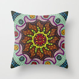 Inner Light Mandala - מנדלה אור פנימי Throw Pillow