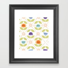 Mod Flowers Framed Art Print