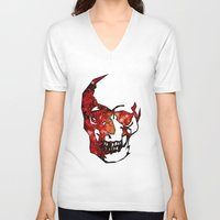 dead space V-neck T-shirts featuring Dead Space II by Fimbis