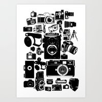 cameras Art Prints featuring Cameras by Ewan Arnolda