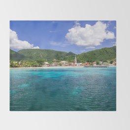 Tropical Coast Throw Blanket