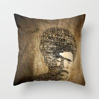 pulp fiction Throw Pillows featuring pulp fiction by de4macja