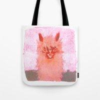 alpaca Tote Bags featuring Alpaca!!! by J Han