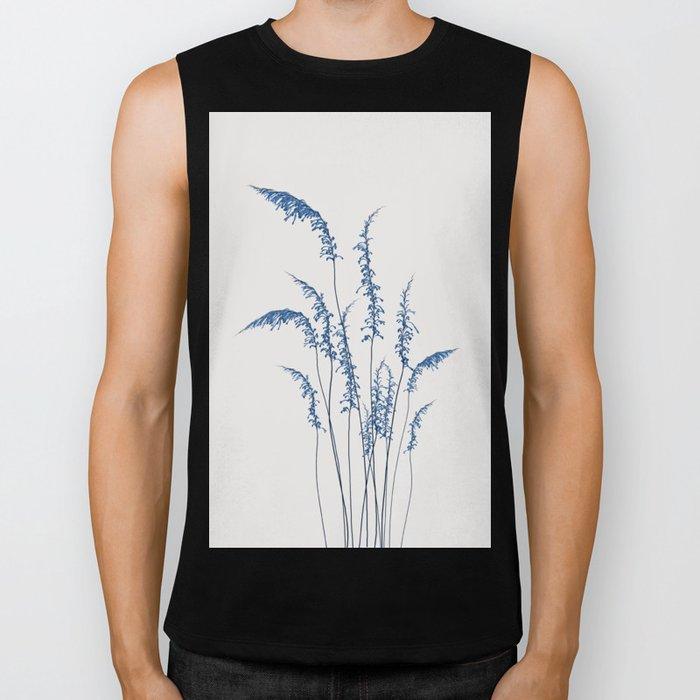 Blue flowers 2 Biker Tank