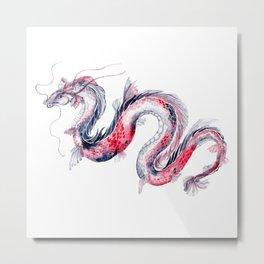 Koi Dragon Metal Print