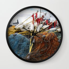 Fischernetz Wall Clock