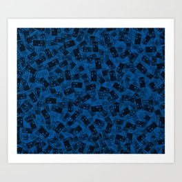 Tardis pattern Kunstdrucke
