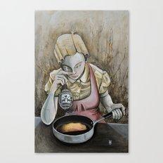 I keep making the same omelette Canvas Print