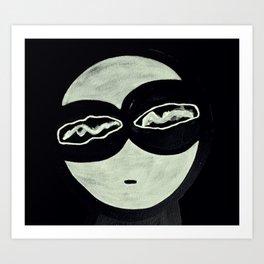 ONO FACE BLACK BACKGROUND Art Print
