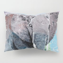 Animal - The big elephant - by LiliFlore Pillow Sham